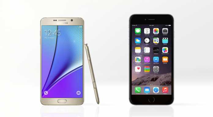 iphone 6 plus vs galaxy note 5