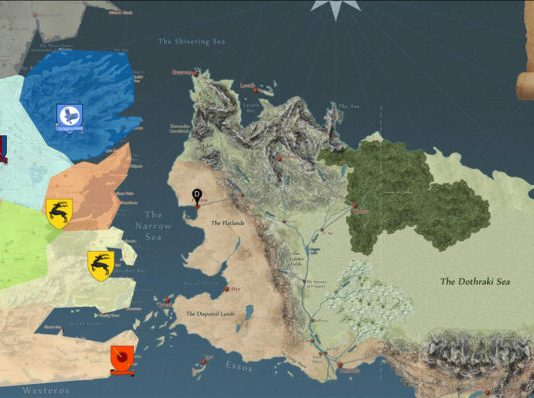 Harta pentru Game of Thrones
