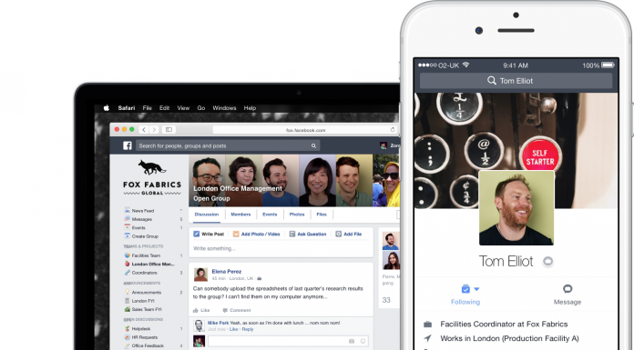 Facebook at Work se va lansa